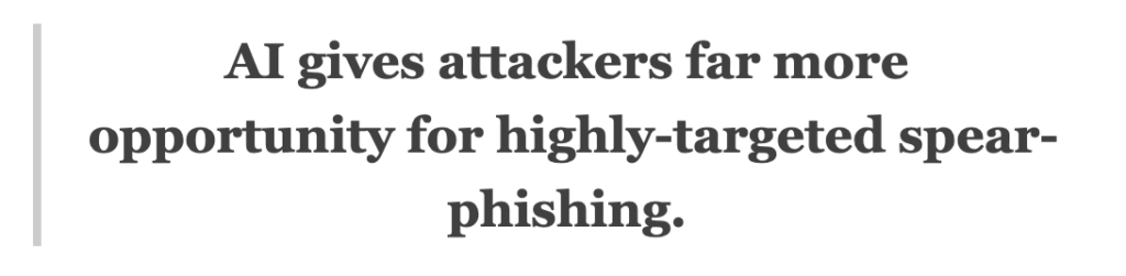 AI spear phishing